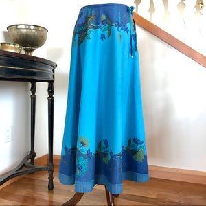 Block Print Cotton Voile Skirt